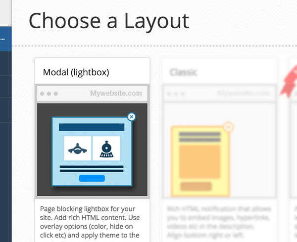 WebEngage Layouts