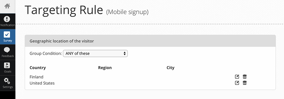geo targeting for mobile - setup mobile targeting
