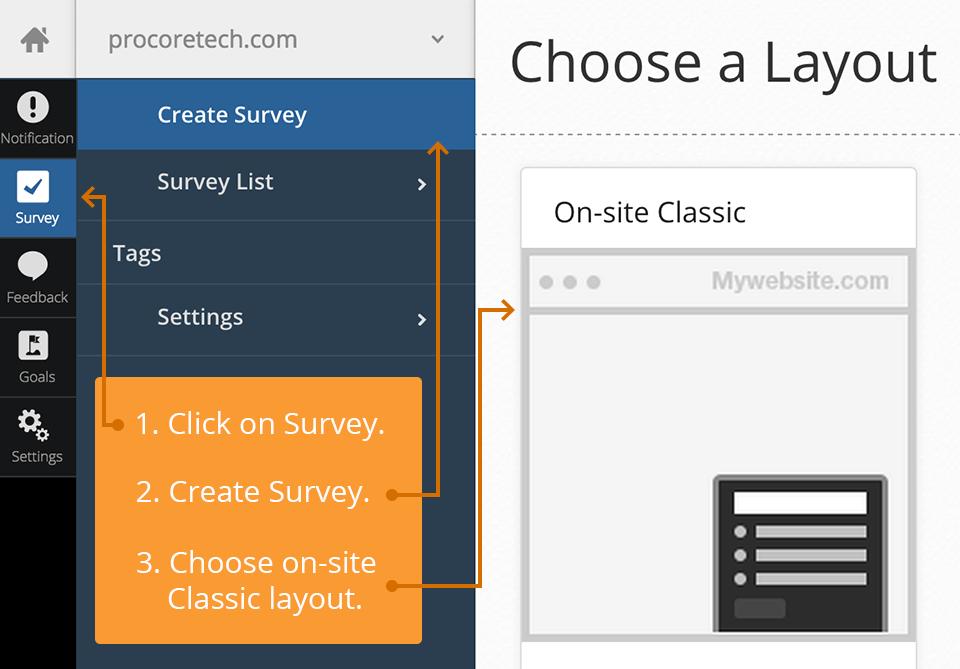 WebEngage Survey layout - example
