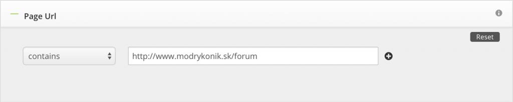page targeting for modrykonik