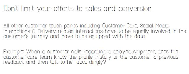Don't limit omni channel marketing it to Sales