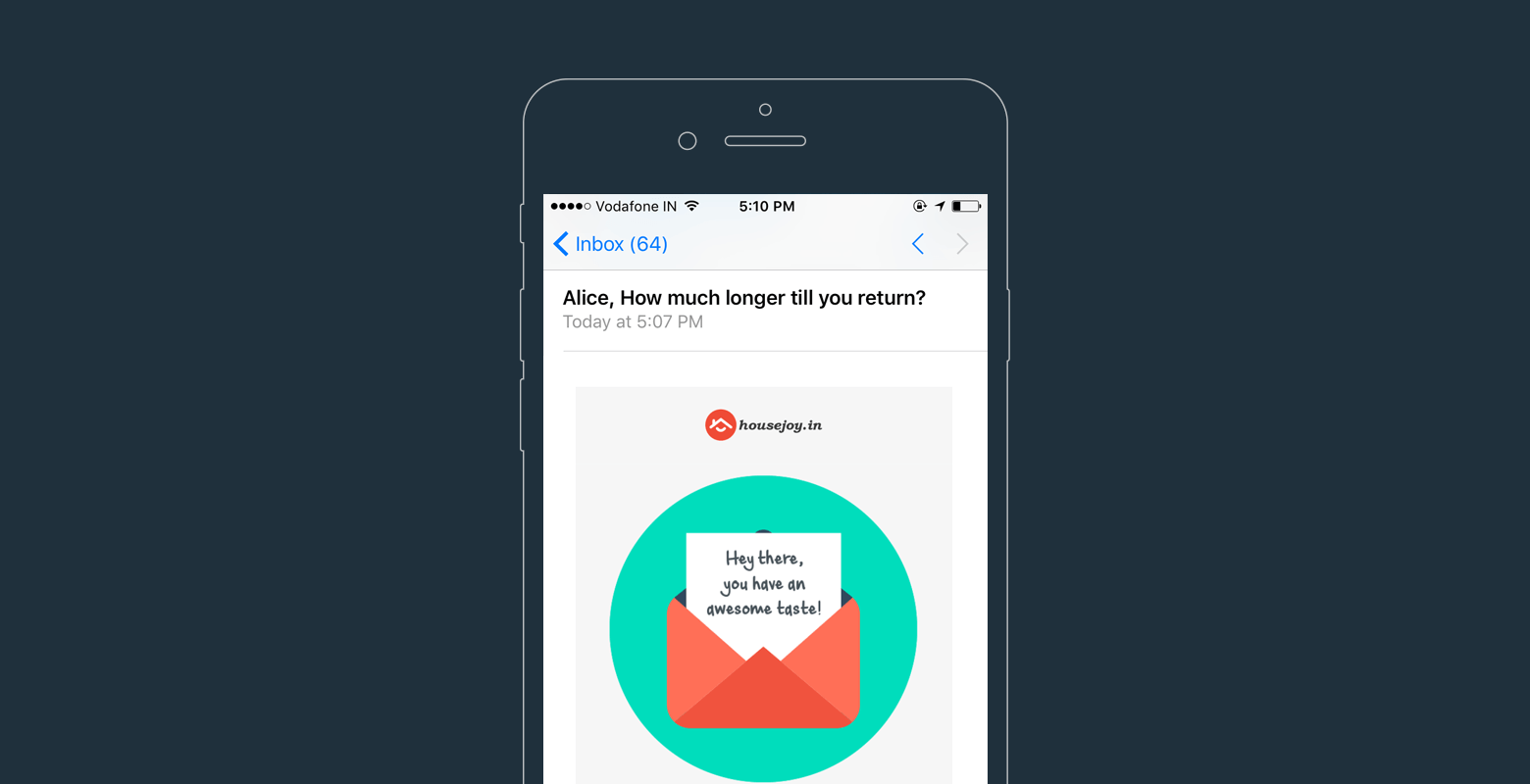 personalized email for cart recovery