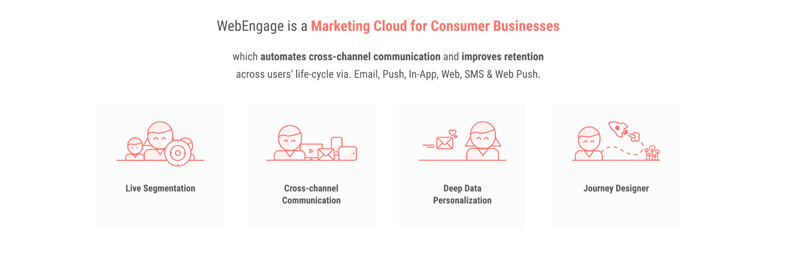 WebEngage is a marketing automation tool for consumer businesses