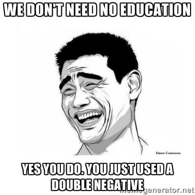 we dont need no education
