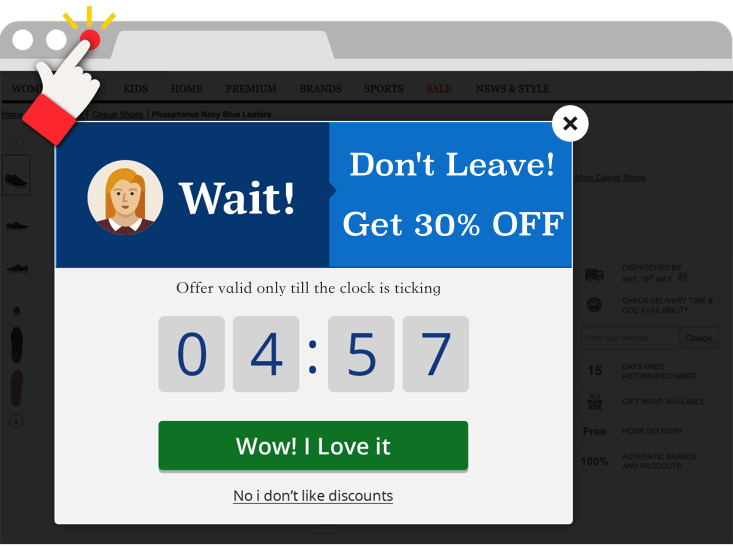 timer popup example