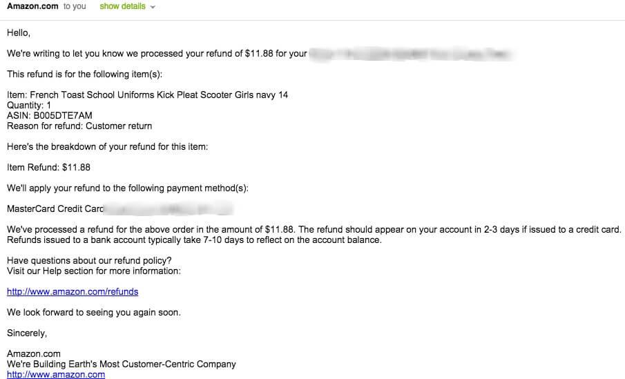Refund Email