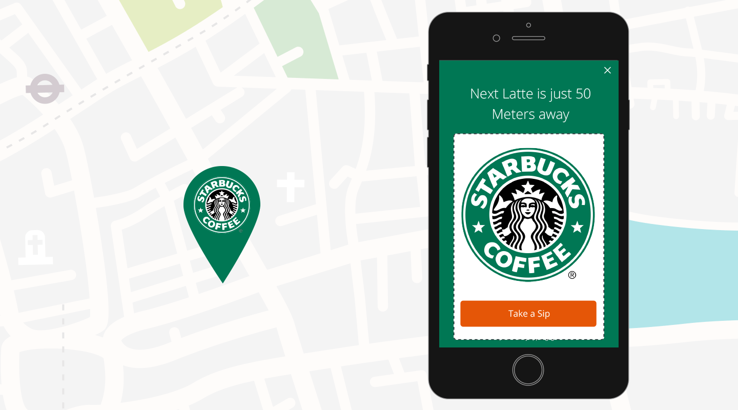 Starbucks Personalised in-app message