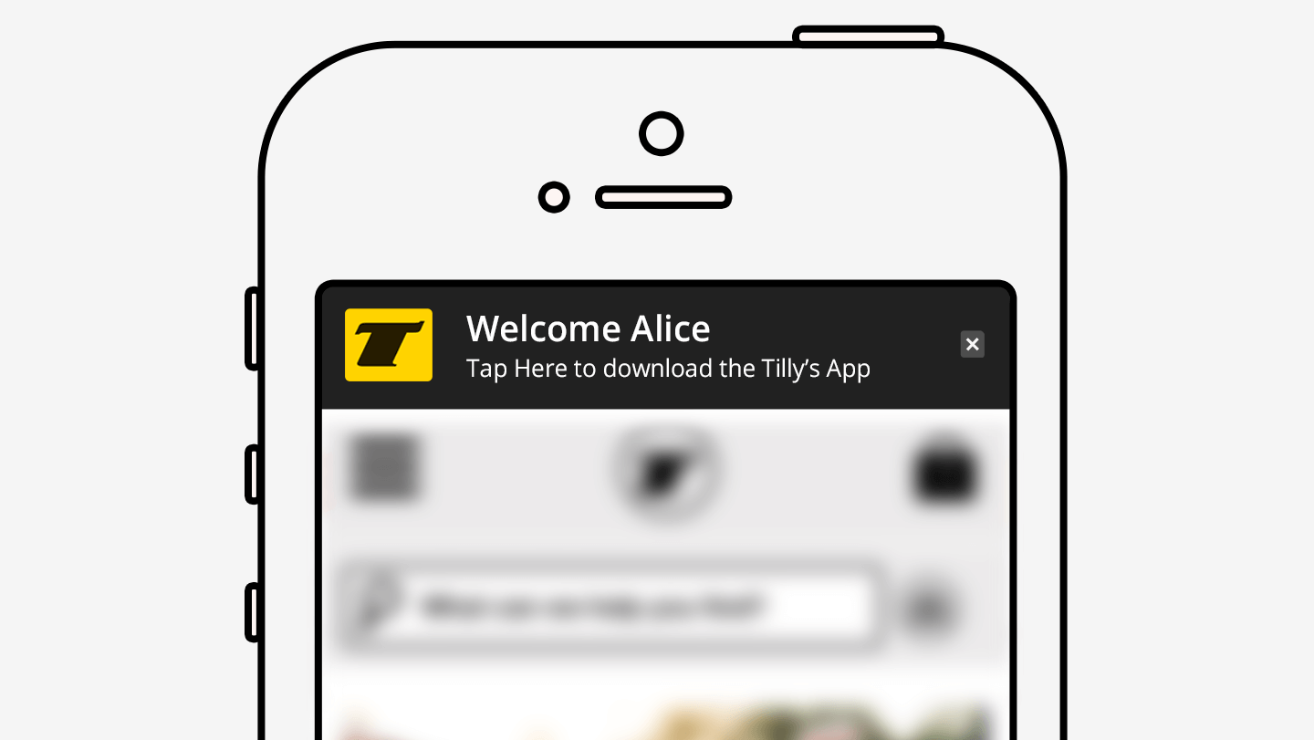App Welcome Message