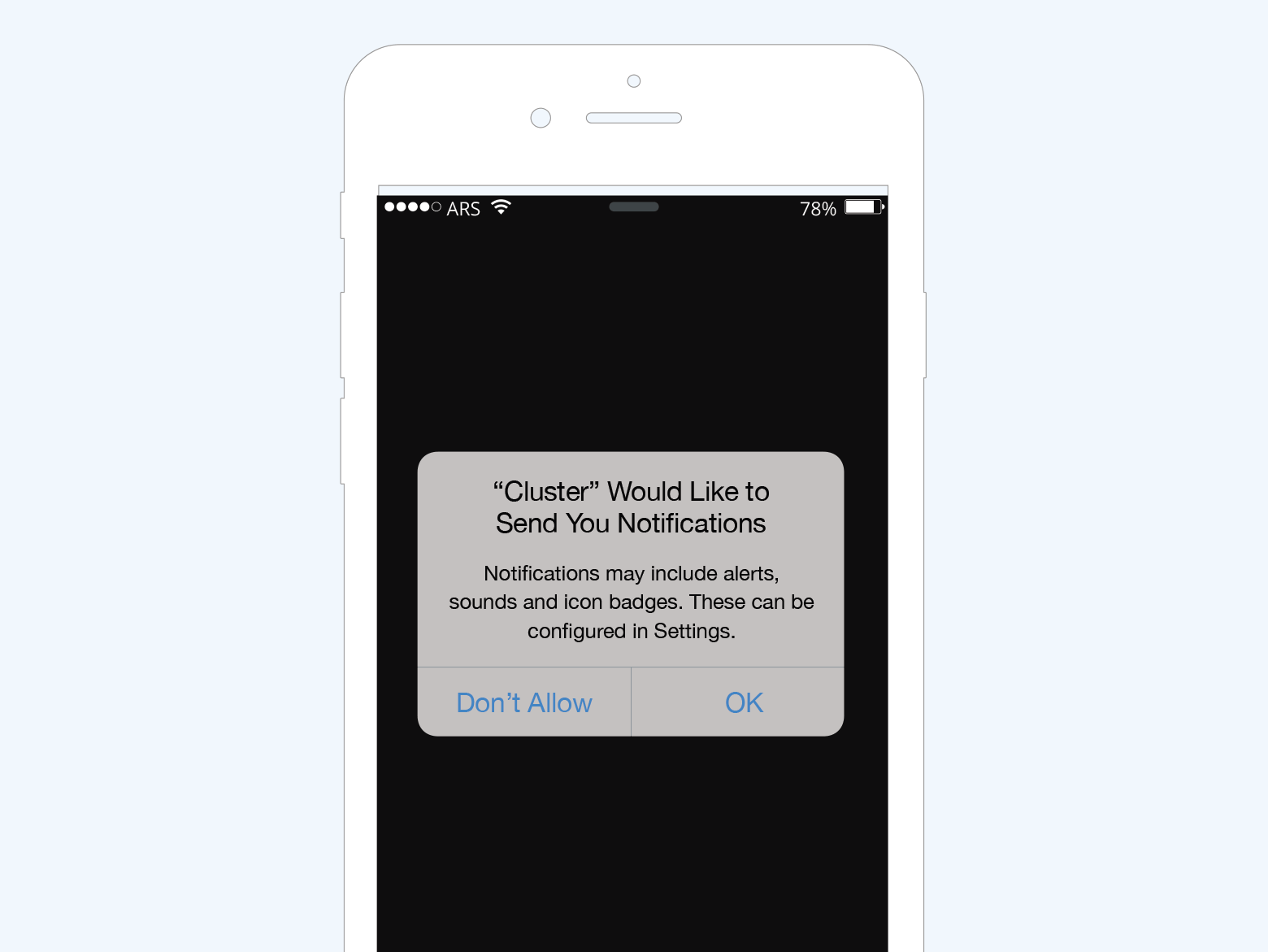 iOS Permission Screen