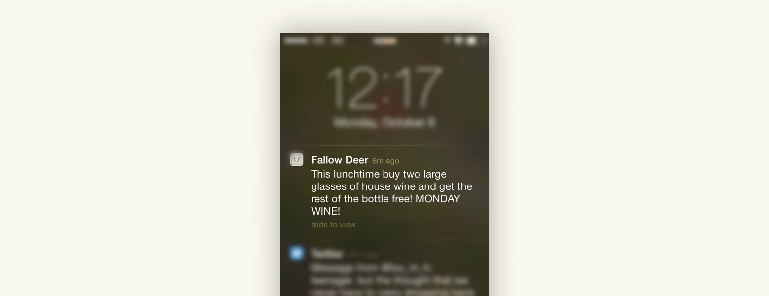 happy hour push notifications