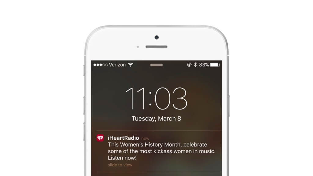 iheartradio push notification example