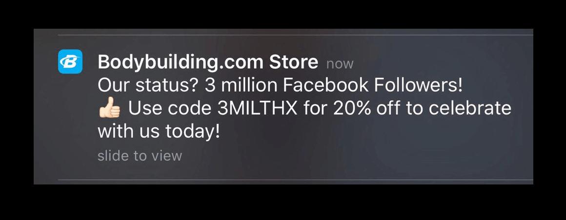 Impressing importance via push notification
