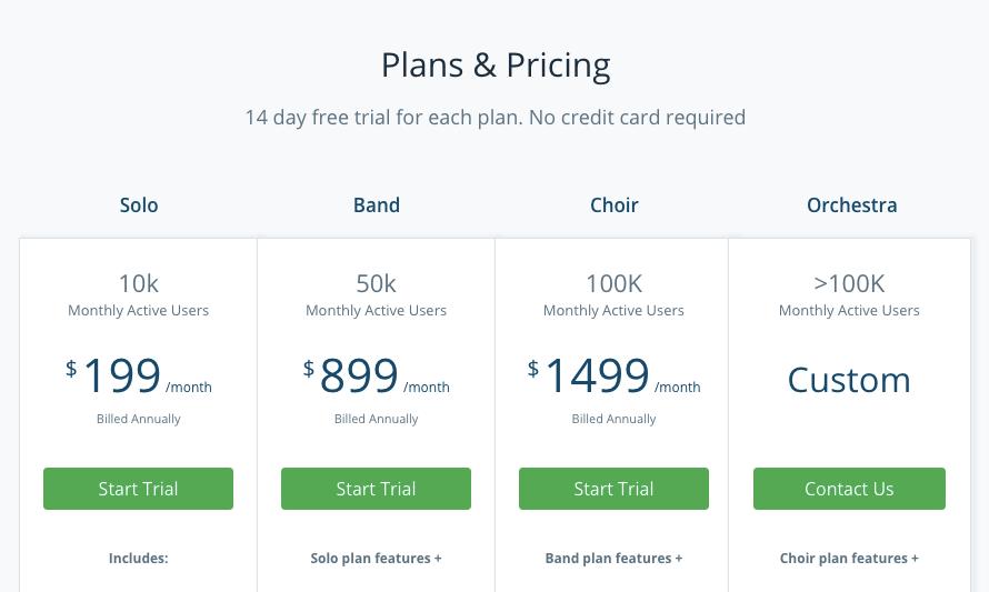 WebEngage pricing