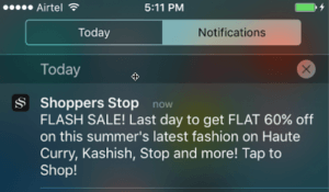 Promotional Campaign - Push Notification