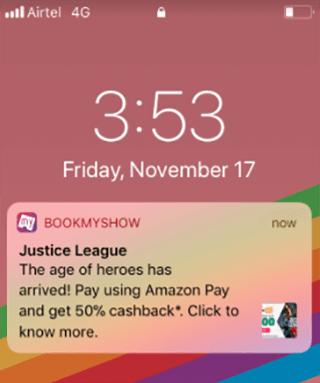 bookmyshow push notification example