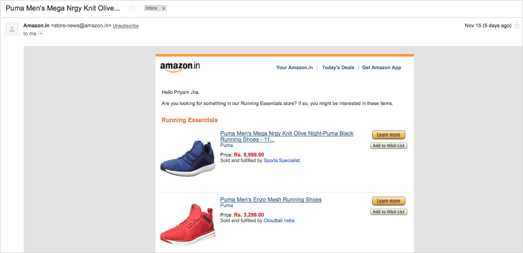 amazon hyper-personalization email campaign
