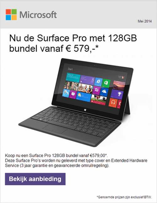 microsoft normal product email