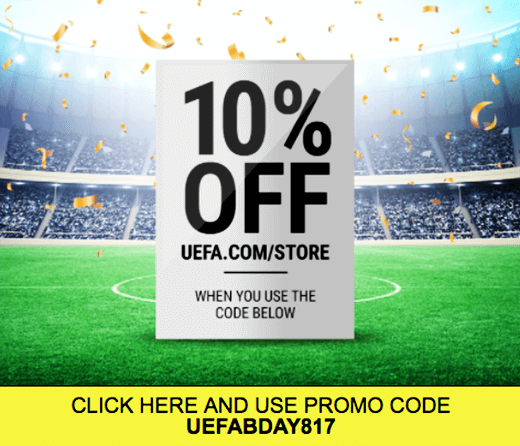 uefa customized email with personalized promo code