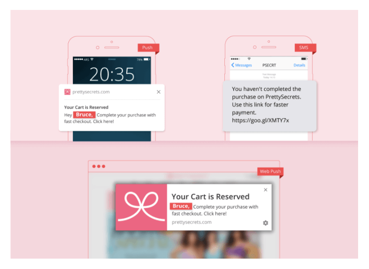 multi channel - mobile & web push notification