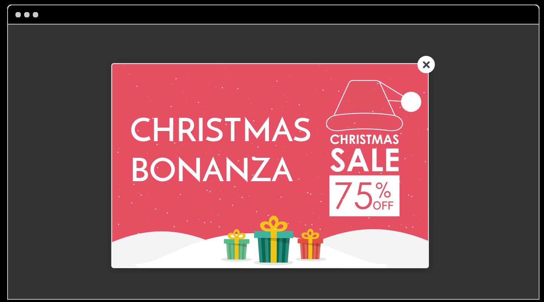 Christmas sale example