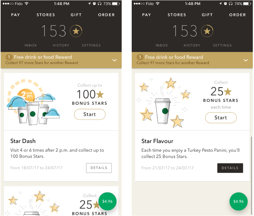 starbucks personalized app