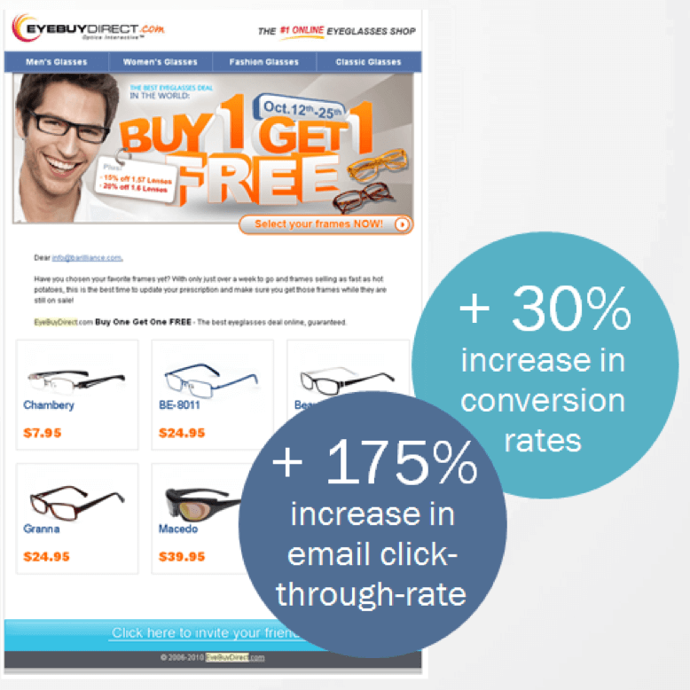 EyeBuyDirect website