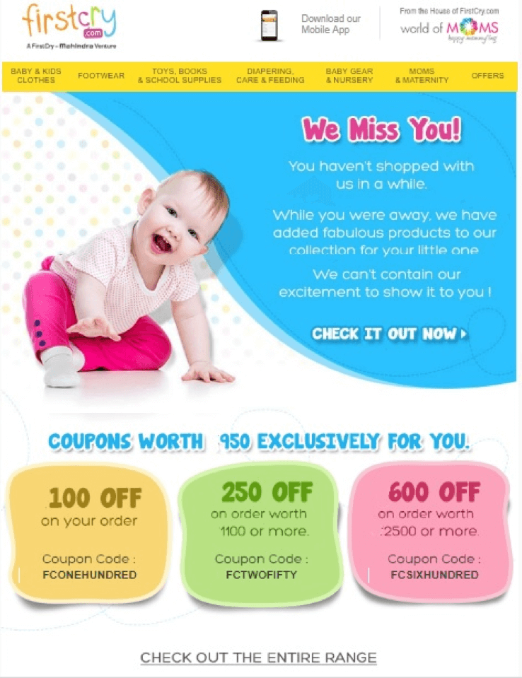 first cry offer example