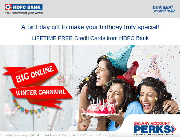 hdfc bank birthday and anniversary