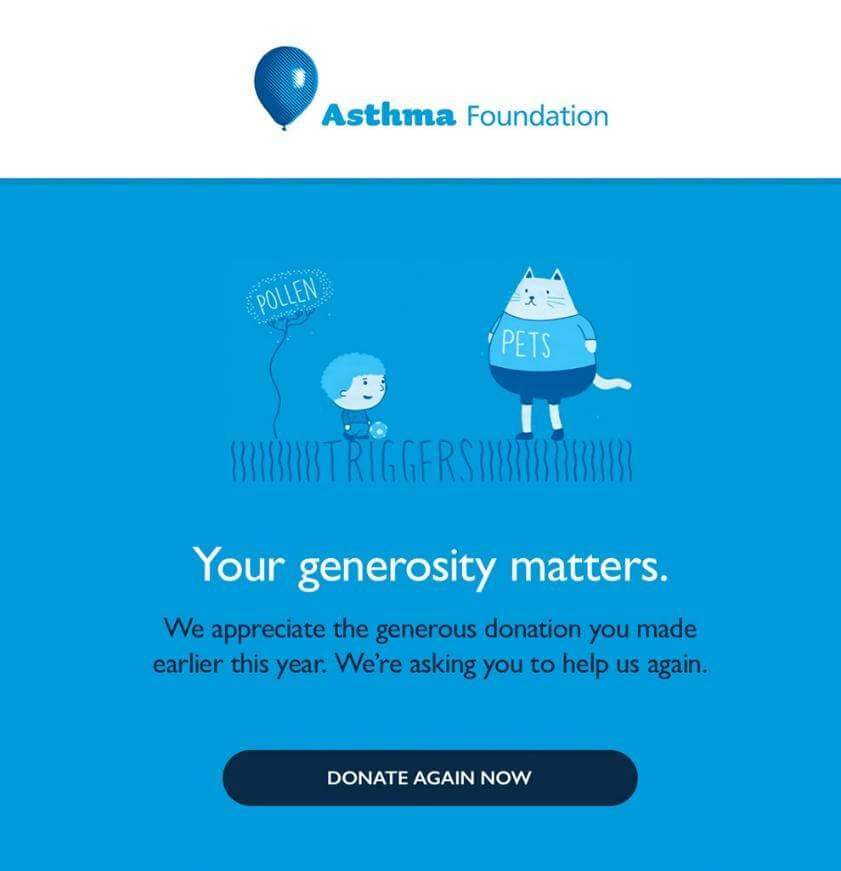 Asthma Foundation's email