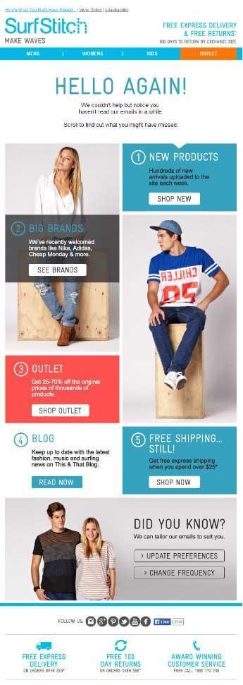 SurfStitch's email reminds subscribers