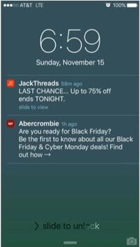 Urgency push notification example