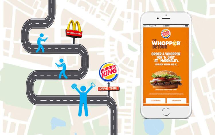Geofencing Burger King vs McDonald's