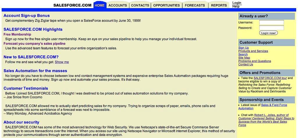 Beginning of Salesforce