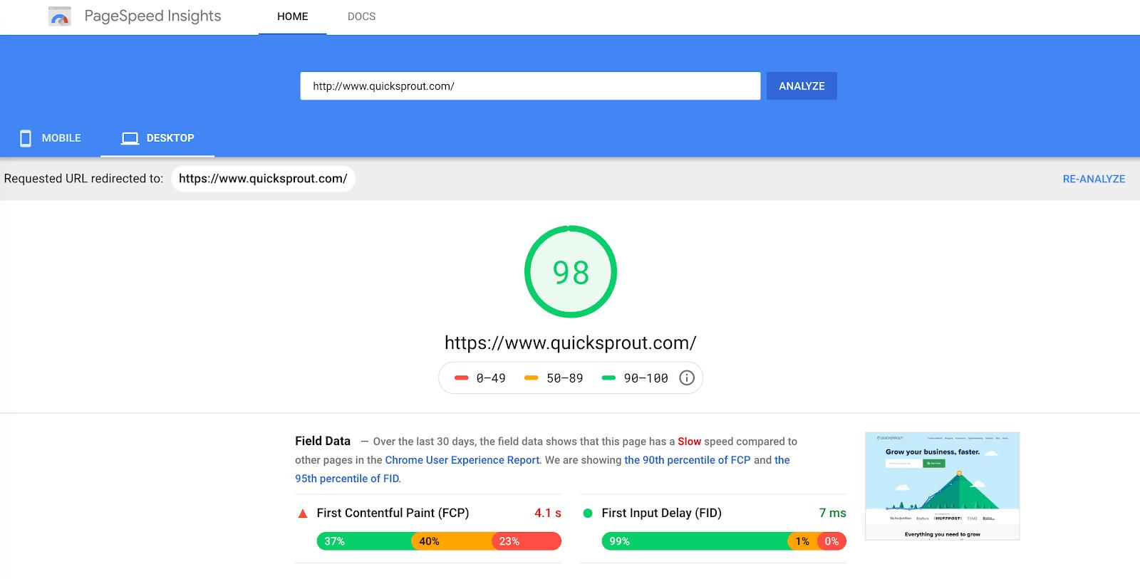 Google page speed