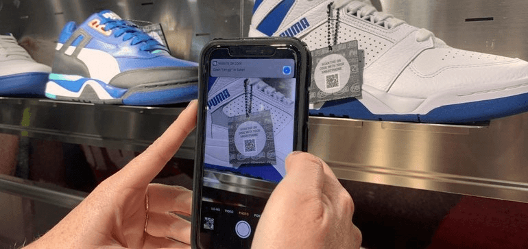Puma's augmented reality store