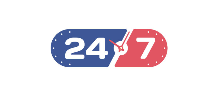 24/7 availability for instant customer support