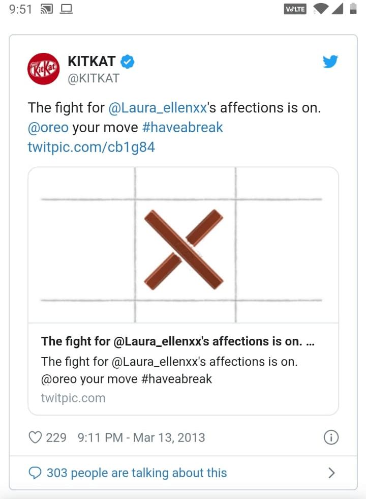 Kitkat moment marketing example