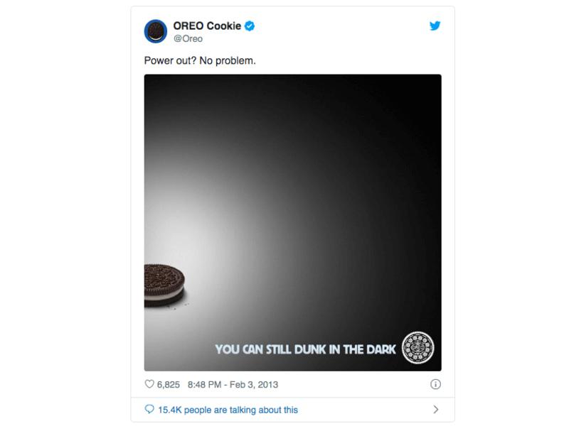 oreo super bowl ad moment marketing example