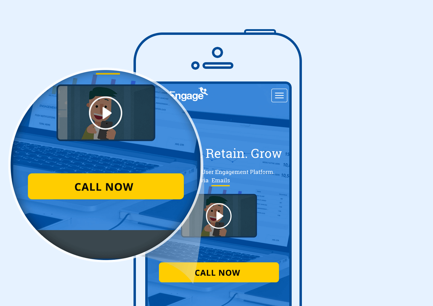 Call To Action on Mobile Website