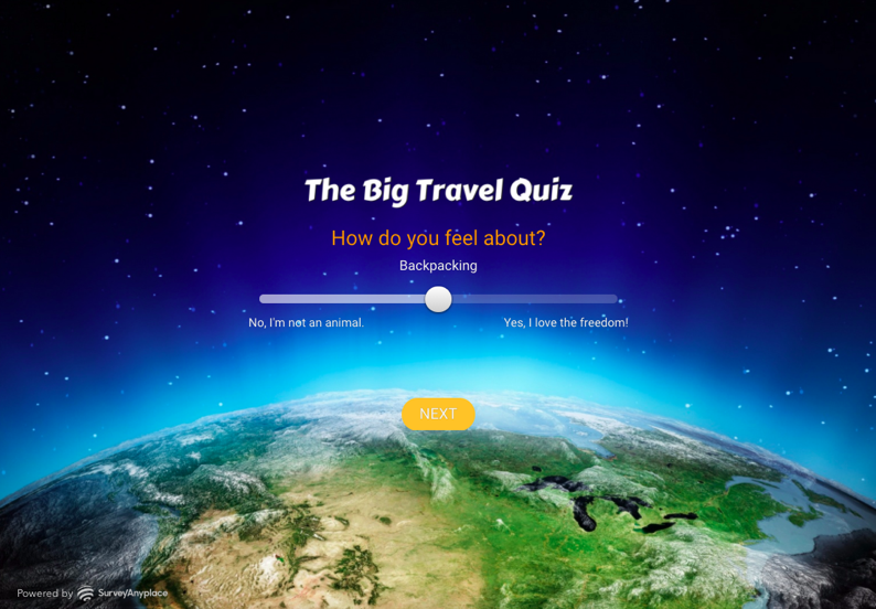 big travel quiz how do you feel survey