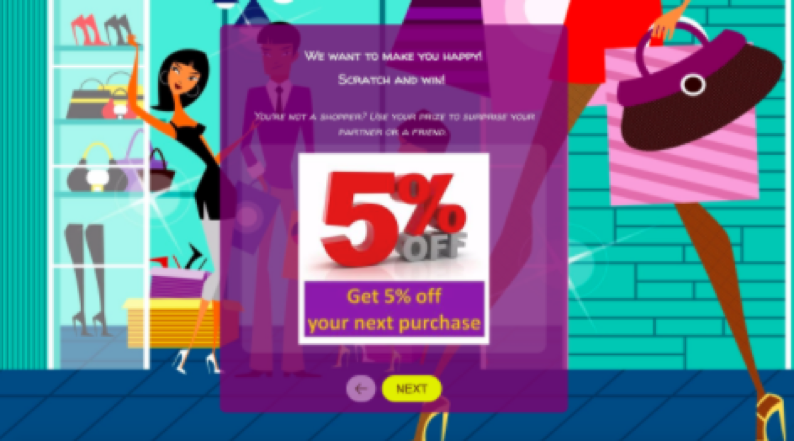 coupon with a discount ad