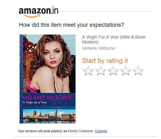 amazon asking for review from the logged-in users